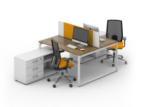 Двойной офисный стол LOFT-k4
