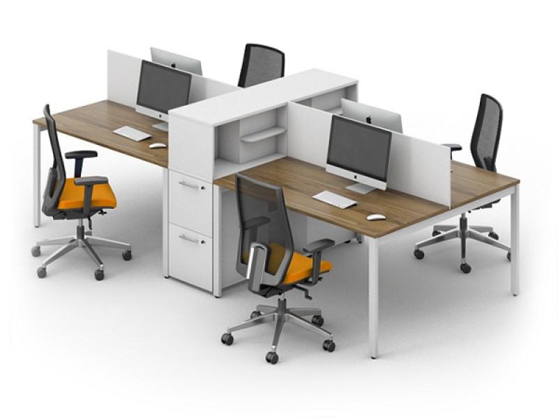 Комплект из 4 офисных столов LOFT-k13
