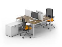 2 офисных стола с перегородкой LOFT-k3