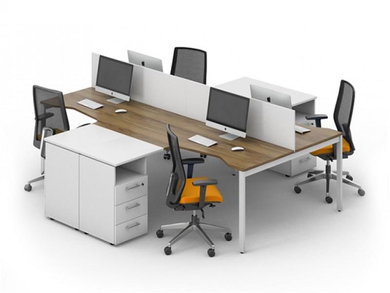 Офисный стол на 4 угловых места LOFT-k7