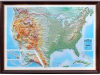 Настенная 3D карта США