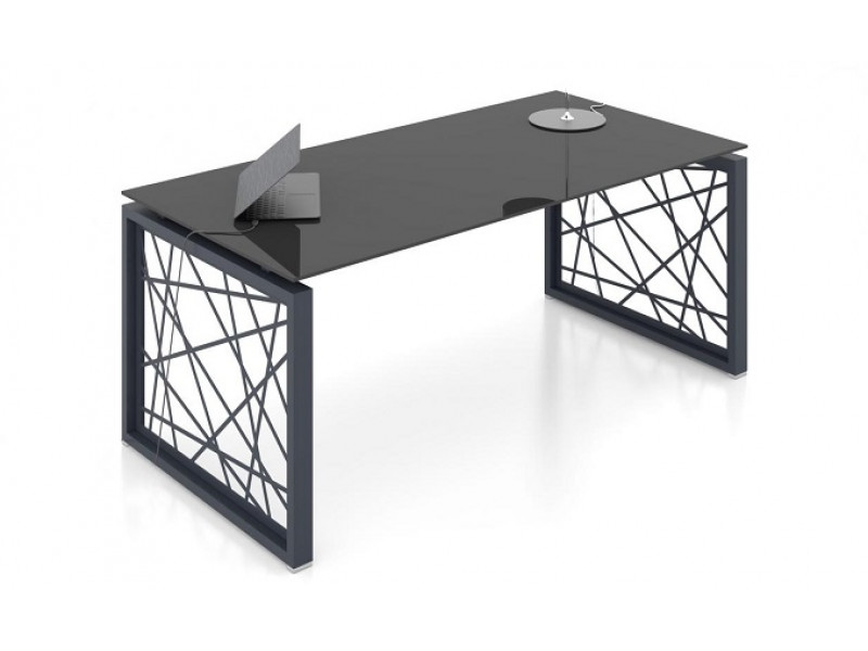 Стеклянный стол в кабинет РАЙЗ