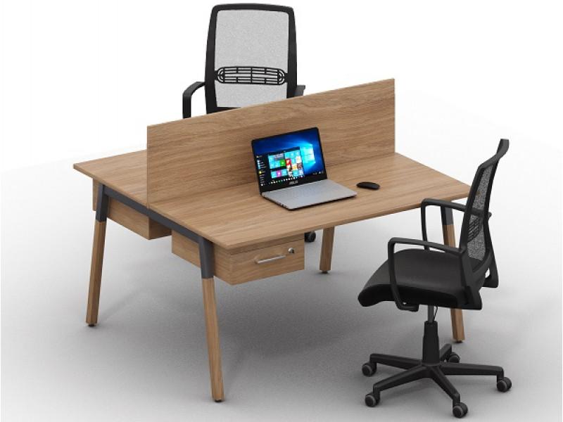 Двойной письменный стол Wood-k9