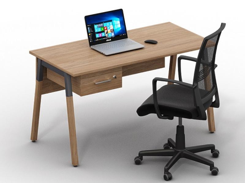 Стол с выдвижным ящиком Wood-k1