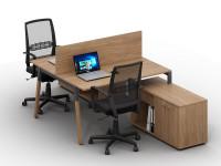 Письменный стол на 2 места Wood-k7