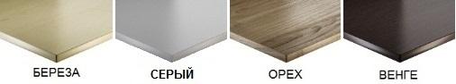 Цвет 2 офисных столов с перегородкой серый белый