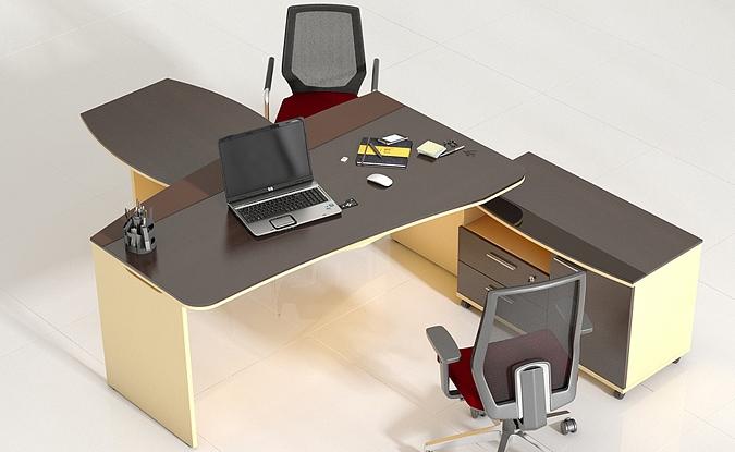 Красивая мебель в кабинет руководителя Флеш венге
