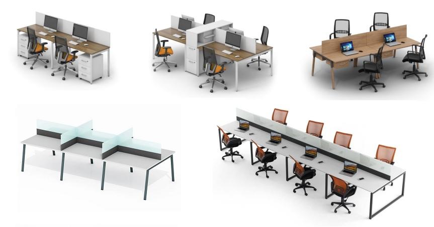Офисные столы для опен спейс