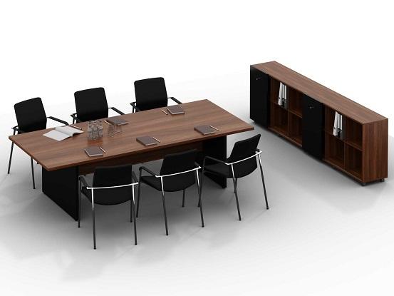 Стол и тумба в переговорную комнату глосс