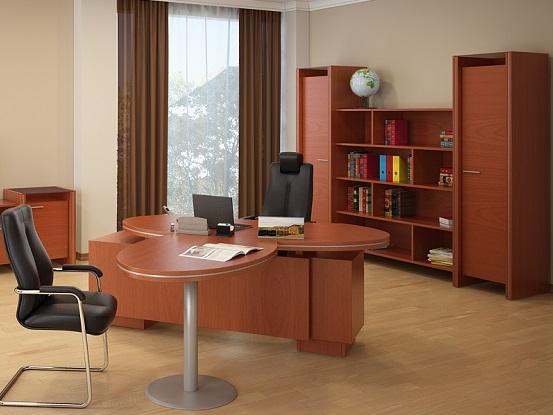 Мебель в кабинет женщины-руководителя яблоня