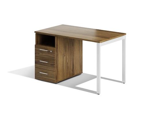 Офисный стол лофт с тумбой