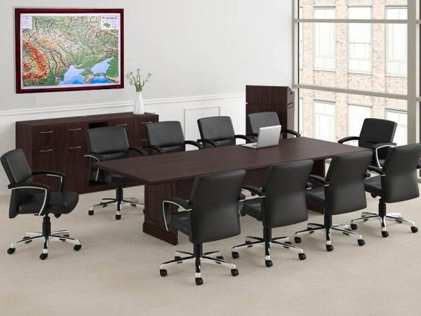Офисная настенная 3д карта в переговорной, конференцзале