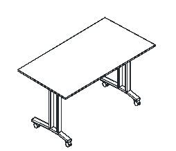 Купить складной стол офисный 1400 на колесах