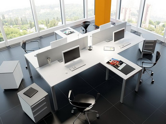 Столи в офіс з перегородками Онлайн