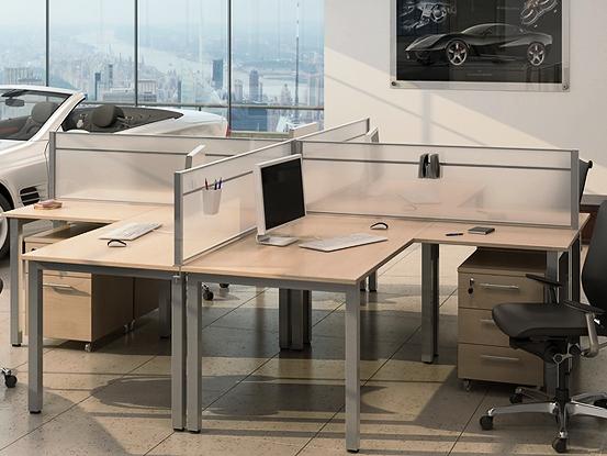 Столи для офісу з перегородками Озон преміум