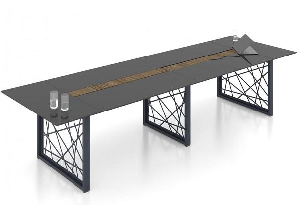 Конференц стол стеклянный для переговорной комнаты