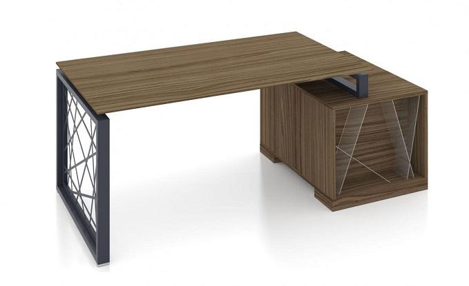 Тумбовый стол руководителя в стиле лофт фото