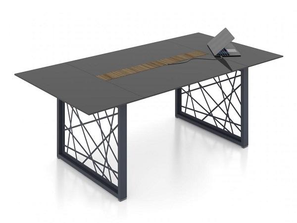 Купить стеклянный стол переговоров Райз
