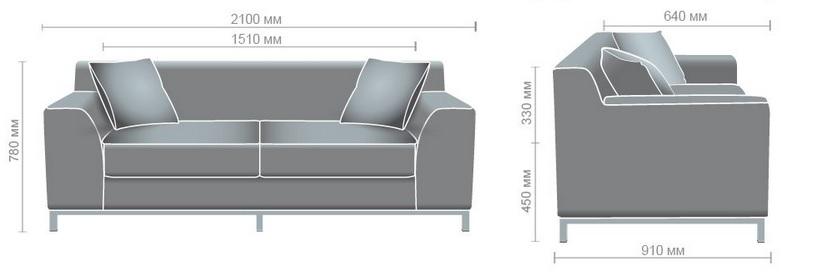 Размеры дивана в кабинет руководителя Токио