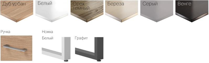 Цвет офисной мебели из дерева и металла wood