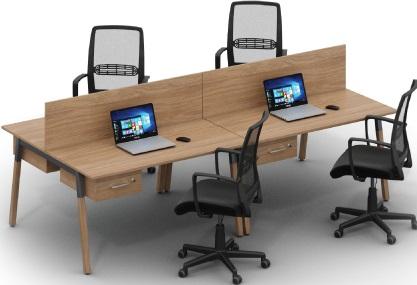 Офисная мебель Wood на 4 человека