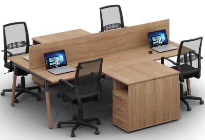 Мебель для офиса Джет Wood 4 угловых стола