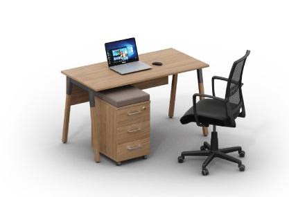Стол для офиса Wood с мобильной тумбой