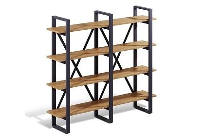 Офисные стеллажи на металлическом каркасе Wood