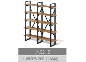 Стеллажи для офиса лофт wood с металлической рамой